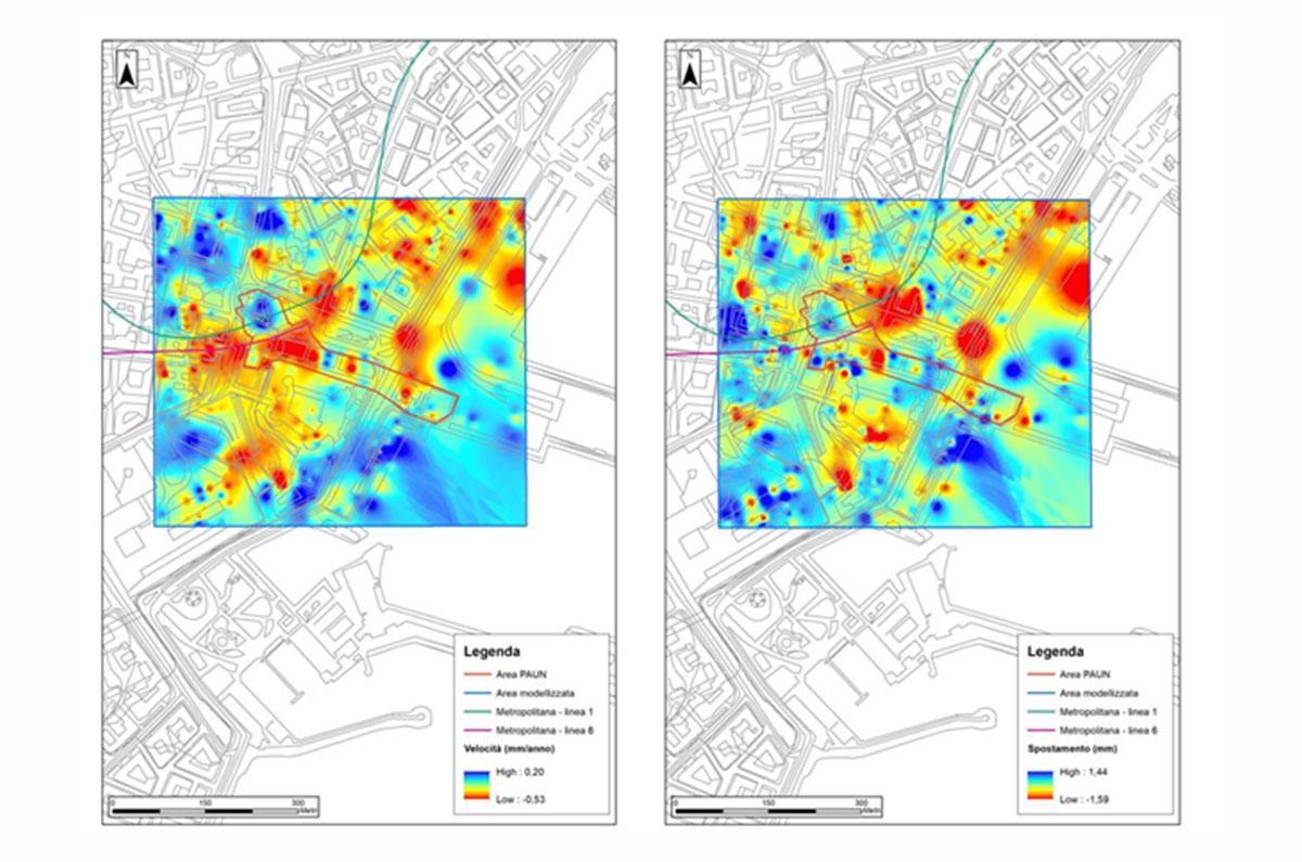 Rappresentazione cartografica delle deformazioni del suolo e delle aree maggiormente esposte al rischio, affinando ed aggiornando i modelli deformativi elaborati nell'ambito del progetto SNECS